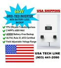 Delta H6 6000W Grid-Tied Inverter NEW Battery-less Backup UL1741 Rule 21 2MPPT