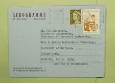 DR Who 1974 Australien Perfin Melbourne Aerogramme nach USA d64031