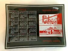 Nevada Club Reno/Nevada Lodge Lake Tahoe 1968 Calendar Ashtray