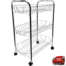 Fruit Basket - 3 Tier Organizer - With Wheels