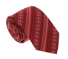 nwt MISSONI red burgundy silk neck tie 11 Made in Italy $125 Macy/'s