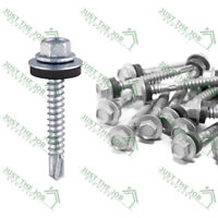 Self Drilling Screws For Light Section Steel - ZINC w/EPDM Washer -METAL ROOFING