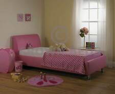 3ft Pink Faux Leather Single Bed Ortho Mattress
