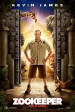 ZOOKEEPER -orig Advance 27x40 movie poster KEVIN JAMES