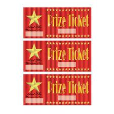 Paquete De 30 Premio Tickets-Hollywood Party-Para Niños Fiesta