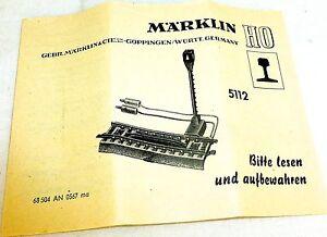 5112 Märklin Manual 68 504 An 0567 Ma Å