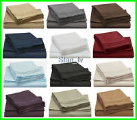 EGYPTIAN COMFORT DELUXE 1500 THREAD COUNT DEEP POCKET BED SHEET SET 4 PIECES