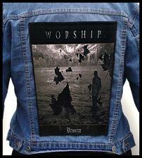 WORSHIP - Doom  --- Huge Jacket Back Patch Backpatch
