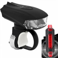 MTB Bike Cycling USB Rechargeable LED Head Front Light + Rear Tail Lamp HOT