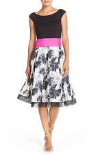 ELIZA J OFF THE SHOULDER ORGANZA FIT & FLARE DRESS sz 10