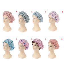 Bath Hat Waterproof Shower Hair Cover Shower Caps Double Layer elastic band _LO