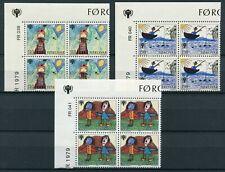 Faroe Marginal Block 1979 FR039-041 International Year Child MNH Complete Series