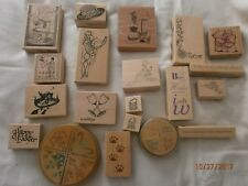 wooden rubber craft stamps bundle fashion,weddng, easter for card making  x 27