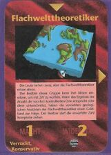 Flachwelttheoretiker Illuminati Neue Weltordnung NWO Flat Earth Deutsch Cards