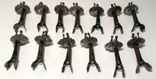 Rare Set of 13 Patented 1883 Antique Tin Christmas Tree Clip Candle Holders
