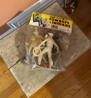 VINTAGE  NOS GIANT 6 INCH MARX COWBOYS AND INDIANS: UNBREAKABLE
