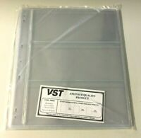 VST Banknote Album Refill 3 Pocket Pages with Backing Pages - 10 Pages (PWN3)