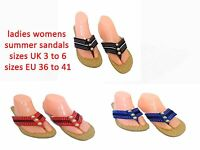 Ladies Womens Slip On Jewel Sandals Fashion Strappy Holiday Beach Dimante Size