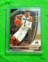 TYLER BEY PRIZM SILVER CHROME ROOKIE CARD JERSEY#1 COLORADO RC MAVERICKS 2020 RC