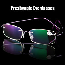 Care Ultralight Rimless Presbyopic Eyeglasses Reading Glasses Memory Titanium