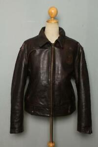 Mens DIESEL Steerhide Leather CHP Police Motorcycle Jacket XL/XXL