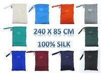 Treksilk: 240 cm! 100% Mulberry Silk Single Sleeping Bag Liner Travel Sheet Sack