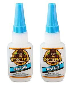 Gorilla Super Glue Impact Tough Anti Clog Cap Thick Formula 2 Pack