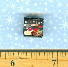 ***SALE*** Dollhouse Miniature Size Breyers Ice Cream carton Vanilla