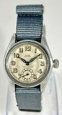 Vintage 1940s Stainless Steel Military Style Rolex Oyster Chronometer Watch 2574