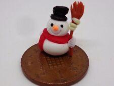 1:12 Scale Hand made Polymer Snowman Dolls House Miniature Nursery-Toys