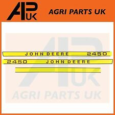 JOHN DEERE 2450 Tracteur Capuche Bonnet Decal Sticker Set Kit Emblème transferts