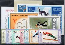 ALBANIEN Olympia - Sport Lot Postfrisch 6 Sätze 5 Blöcke