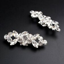 Crystal Tone Boots Shoe Buckle Flower Rhinestone High Heels Bridal Shoe Clips