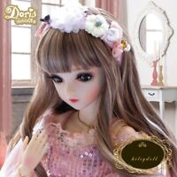 60cm 1/3 BJD Doll Girl Dolls with Free Eyes Face Makeup Clothes Full Set Outfit