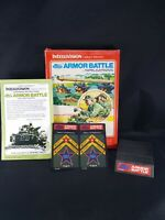 Armor Battle Intellivision Complete Game w/ Box, Manuals 2 overlays