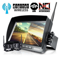 "Digital Wireless Backup Camera 7"" Split Monitor Rear View System For Truck Bus"