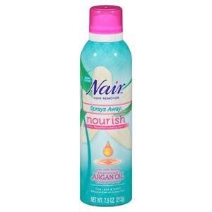 Nair Nourish Sprays Away - Moroccan Argan Oil Orange Blossom Hair Remover 7.5 oz