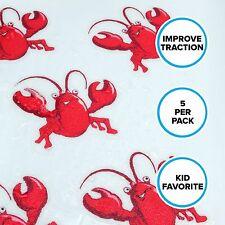 Lobster Tub Tattoos Non Slip Safety Bathtub Stickers Adhesive Treads 5 ct