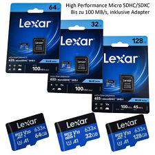 Lexar Micro SD Speicherkarte Adapter 16GB 32GB 64GB 128GB Memory Card 100MB/s