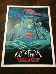 Roger Waters Us & Them Tour Print 2017 Blue Sky Variant #552/1000 (Pink Floyd)