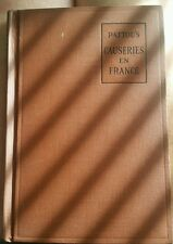RARE 1914 French Text Pattou's CAUSERIES EN FRANCE Brown Cover  Excellent!