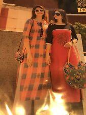 Women indian kurta kurti Long Maxi Dress top tees bottom  tunic bollywood -ad12