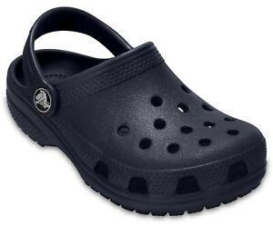 Kids Crocs CLASSIC CLOG Ocean Roomy Fit Sandal Shoes, Size 2 - Brand New