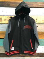 NEW NEFF Hoodie Button Up Snap Jacket Black/Gray Mens Size Small