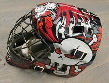 Franklin Gfm100 Sx Street Extreme Comp Goalie Mask Skull Cross Bones Barbwire