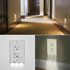 10X Plug Cover LED Night Angel Wall Outlet Face Hallway Bedroom Bathroom Light
