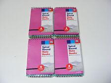 16 SPIRALE PROMEMORIA/TACCUINI CON PLASTICA COVER 30 foderate Fogli di carta