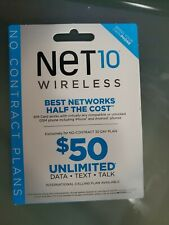 Unlimited At&T Wireless Network $50 Month On This Net10 standard Sim