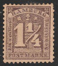Kappysstamps Ks3482 Germany Hamburg Scott 22 Mint Hinged Retail $95