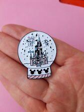 Enchanted Disney Castle Style Enamel Snow Globe Pin Crystal Ball Mickey Mouse